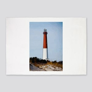 Old Barney Lighthouse 5'x7'Area Rug